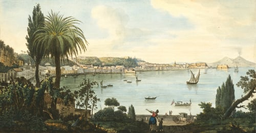 View Of Naples And Vesuvius From Posillipo, 1776 by Sir William Quiller Hamilton
