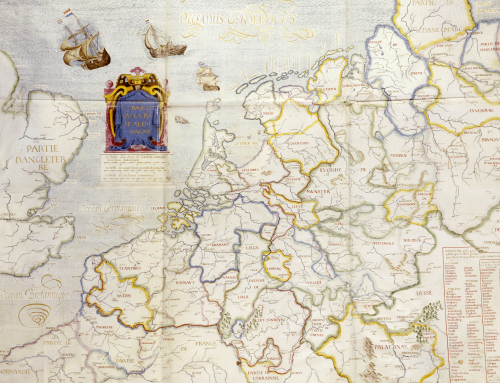 Map Of Northern Europe, 1624 by Salomon de Caus