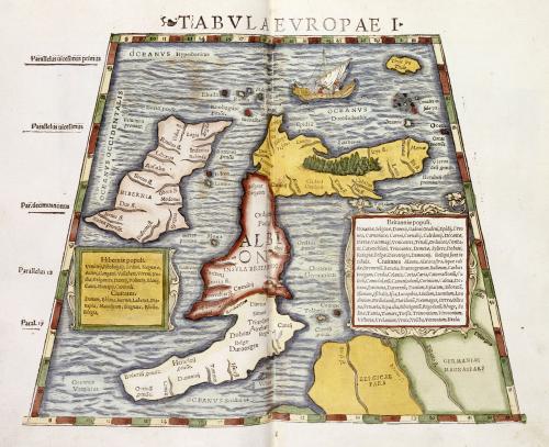 Map Of Britain, 1552 by Claudius Ptolemaeus