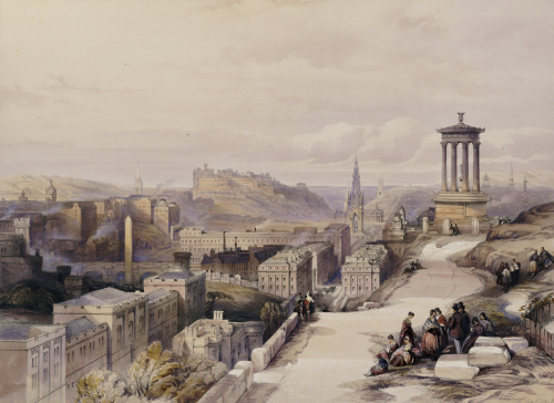 A View Of Edinburgh. From 'Scotland Delineated In A Series Of Views, C. 1850. by Joseph Mallord William Turner