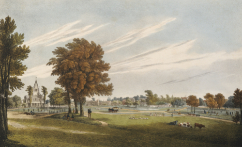 View Of The South East Corner Of Clapham Common, 1825 by J. Powell