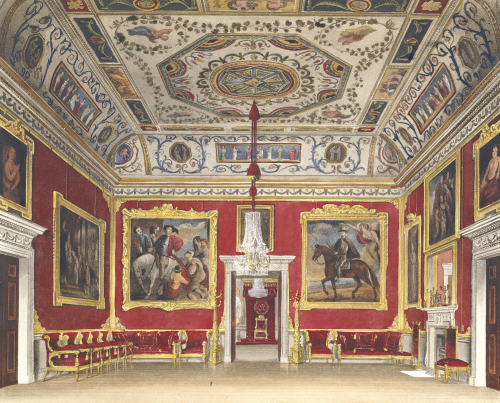 Drawing Room, Buckingham House by I. Stephanoff