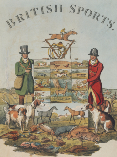 Title Page From ' The National Sports Of Great Britain by Henry Alken