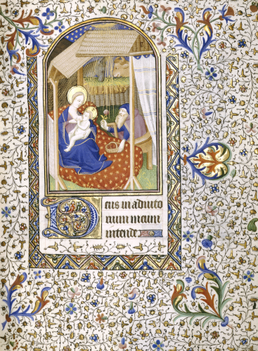 Nativity, Joseph With The Virgin Suckling The Child, C.1430 by Christie's Images