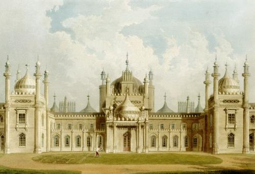 West Front. The Royal Pavilion At Brighton by John Nash