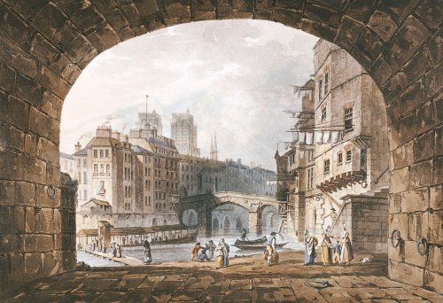 From Under The Arch Of St. Michel's Bridge, Paris by I. Hill