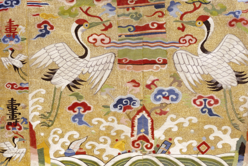 A Late Ming Kesi Fragment Depicting Two Cranes by Christie's Images