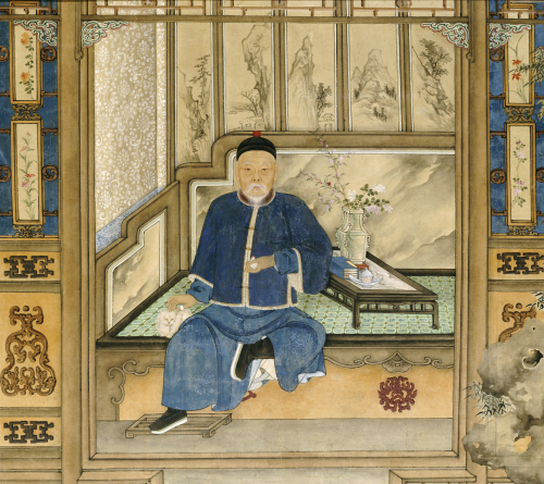 A Bearded Old Gentleman Wearing Blue Winter Clothes by Christie's Images