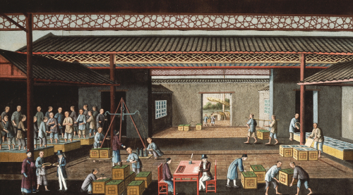 Various Stages In The Manufacture And Selling Of Tea, Circa 1850 by Christie's Images