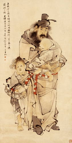 Zhong Kui And His Sister, 1888 by Ren Yi