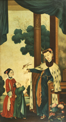 A Mandarin's Wife With Their Two Daughters by Christie's Images