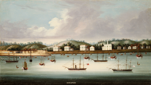A View Of Singapore From The Roads With The American, Circa 1850 by Christie's Images