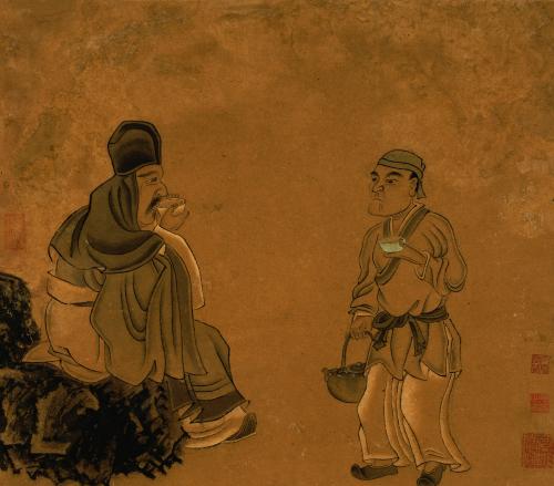 Tasting Tea. Chen Hongshou by Chen Hongshou