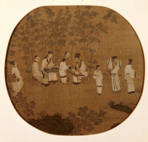 Scholarly Gathering In A Bamboo Grove by Christie's Images