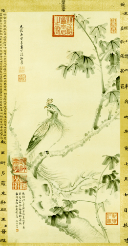 A Phoenix Standing On A Chinese Parasol Tree, 1890 by Christie's Images