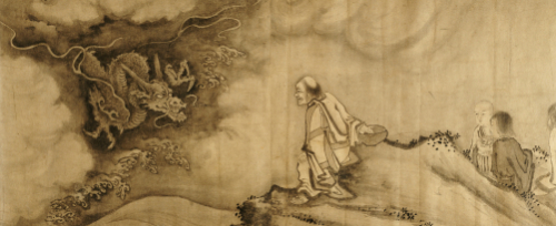Dragon Emerging from the Clouds and Confronting the Luohan by Christie's Images
