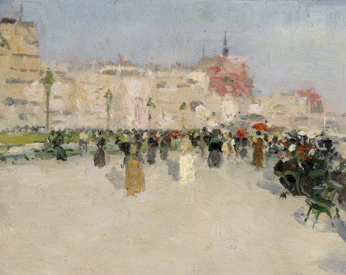 A Seaside Promenade, Circa 1891 by Walter Frederick Osborne