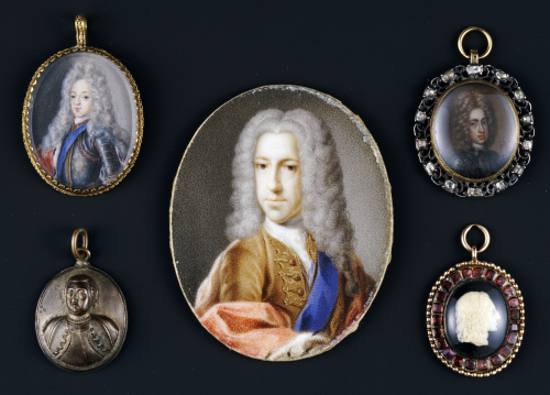 A Selection Of Miniature Portraits Depicting Prince James Francis Edward Stuart, The Old Pretender by Christie's Images