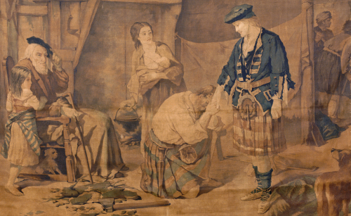 A Tapestry Cartoon Depicting Prince Charles Edward Stuart by H. Verbeocken