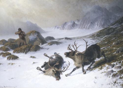 Shooting Reindeer by Ludwig Beckmann