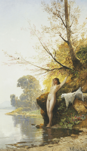 The Bather by Hermann-David-Salomon Corrodi