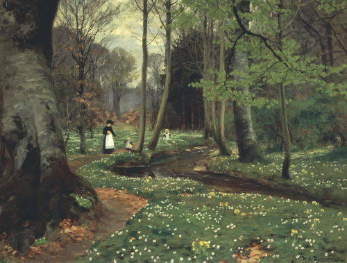 The Woodland Path by Hans Anderson Brendekilde