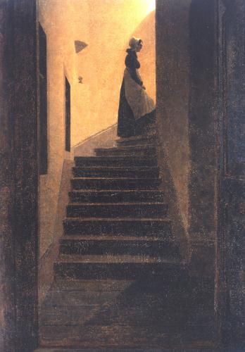 Caroline Auf Der Treppe. Caroline On The Stairs, 1825 by Caspar David Friedrich