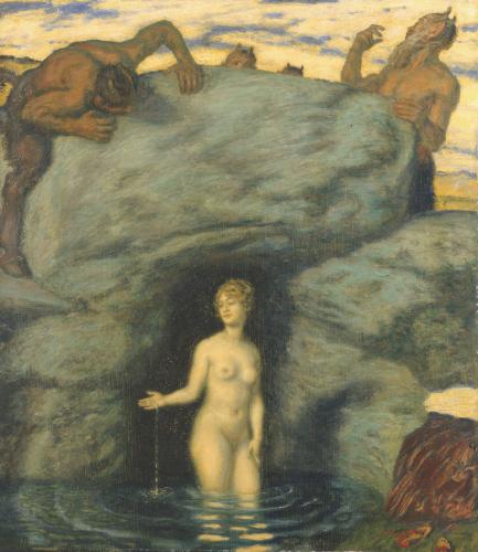Quellnymphe Von Faunen Belauscht, 1911 by Franz Von Stuck