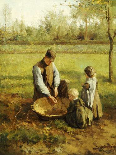 Watching Father Work by Albert Neuhuijs