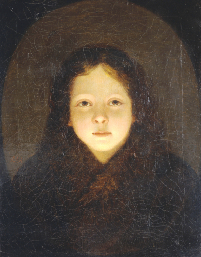A Girl, Head And Shoulders by Petrus van Schendel