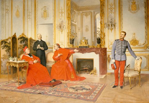 The Dispute by Henri Adolphe Laissement