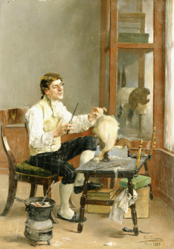The Wig Maker, 1889 by Luis Jimenez Y Aranda