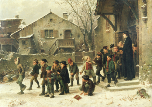 After Class,1859 by Marc Louis Benjamin Vautier