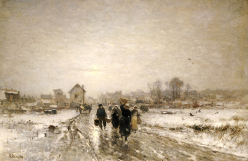 Returning From Market by Ludvig Munthe