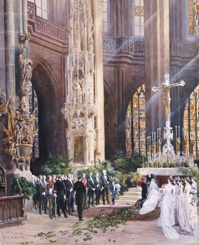 A Wedding, Jacobi Church, Nuremberg, 1928 by Wilhelm Ritter