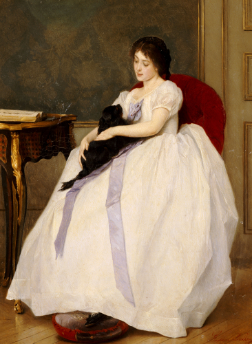 The Confidante by Gustave de Jonghe