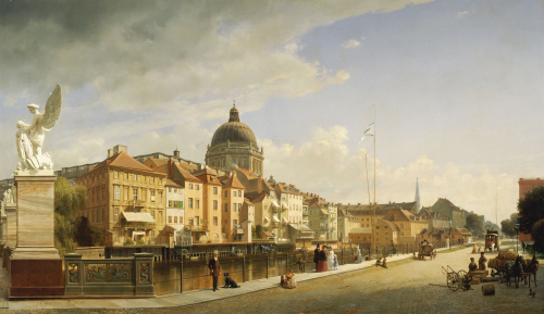 Schlossfreiheit Von Der Schlossbrucke, Berlin, 1855 by Johann Philipp Eduard Gaertner