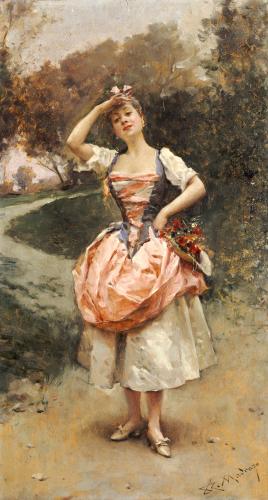 A Country Maid by Raimundo De Madrazo Y Garreta