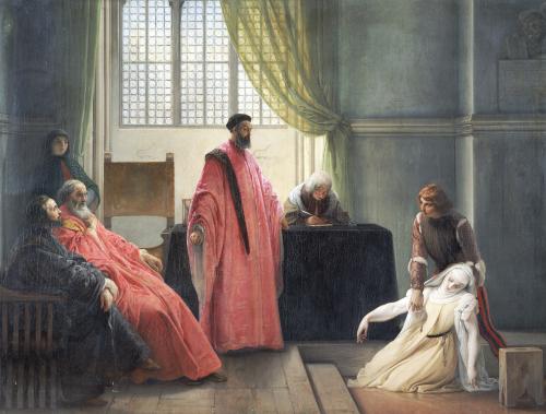 Valenza Gradenigo Before The Inquisition by Francesco Hayez