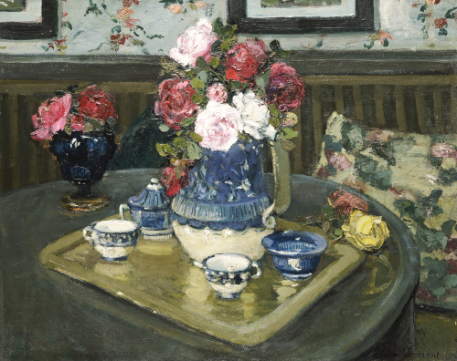 Roses On A Table by Adrian Demout