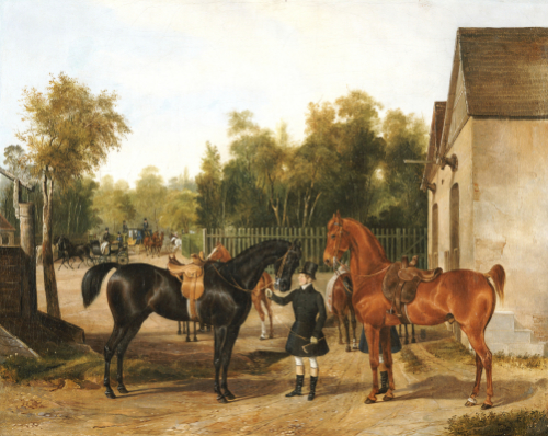 Preparing For The Ride, 1837 by Franz Zeller Von Zellenberg