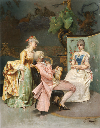 The Sitting, 1887 by Giulio Rosati