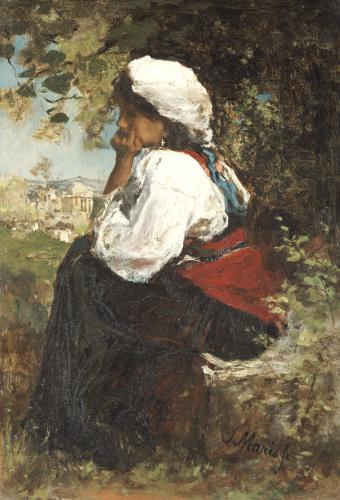 A Roman Girl by Jacob Henricus Maris