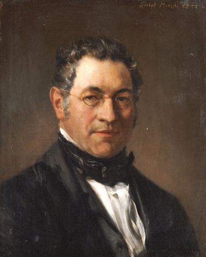 Portrait Of Professor Siegfried Dehn (1799-1858), 1854 by Adolf Von Menzel