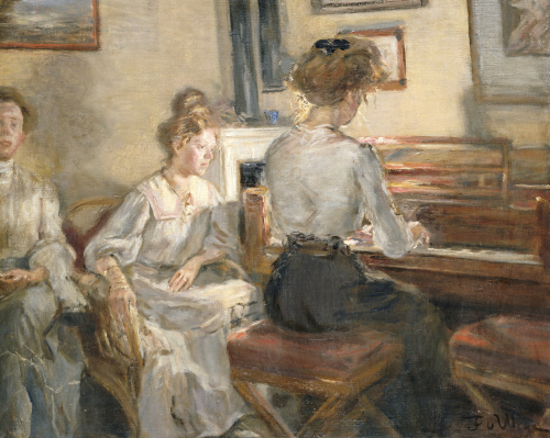 Evening Music, 1907 by Fritz von Uhde