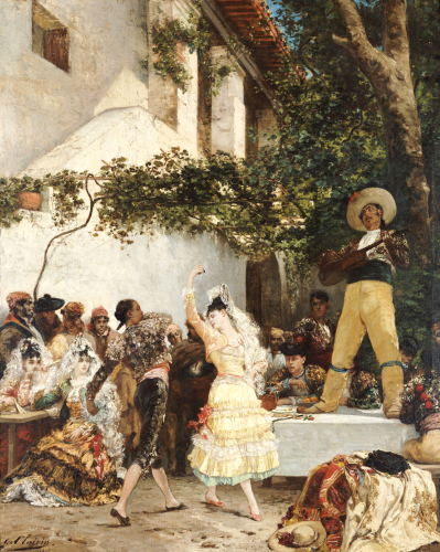 The Spanish Dancers, 1875 by Georges-Jules-Victor Clarin