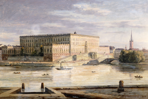 The Royal Palace, Stockholm, 1848 by Martinus Rorbye
