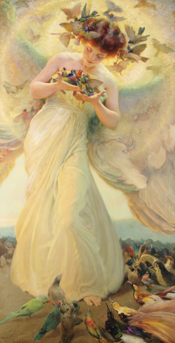 The Angel Of The Birds, 1910 by Franz Dvorak