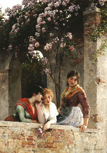 On The Terrace, 1885 by Eugene von Blaas