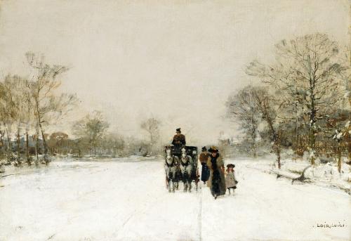 In The Snow. Dans La Neige by Luigi Aloys-François-Joseph Loir